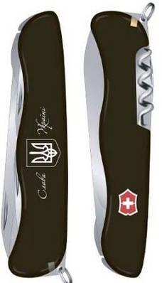 Швейцарский складной нож Victorinox Nomad Ukraine 08353.3R8 черный