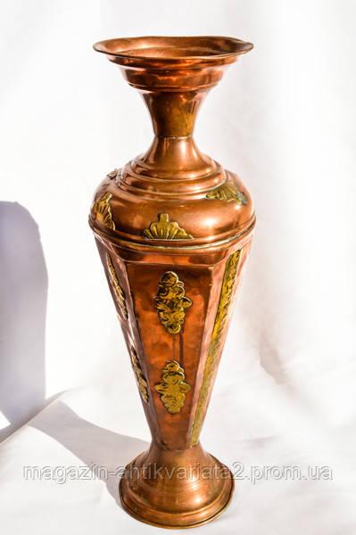 Антикварная каминная ваза!Медь,латунь! РЕДКАЯ 45см