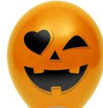 """Шар воздушный оранжевый Хэллоуин """"12"""",  диаметр 30 см"""