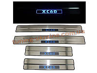 Накладки на пороги с подсветкой для Volvo XC60 2008-13
