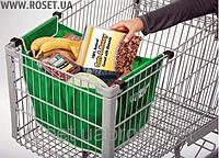 Сумка для Покупок в Супермаркетах Cart Bag Snap-on-Cart Shopping Bag!