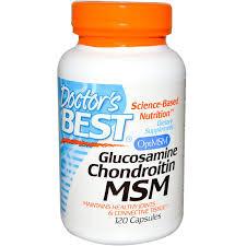 Глюкозамин хондроитин, 120 капсул, Doctor's Best. Сделано в США