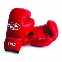 """Перчатки боксерские тренировочные """"ABID"""" Green Hill 12 oz кожа"""