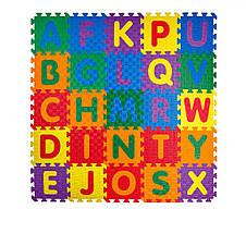 Детский  развивающий мягкий пол-пазл Алфавит 1500*1500*12, фото 2