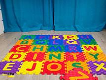 Детский  развивающий мягкий пол-пазл Алфавит 1500*1500*12, фото 3