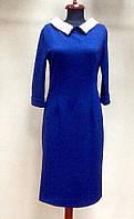 Платье Viktoria Beckham синее с жемчугом рукав 3/4, фото 1
