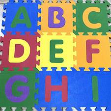 Дитячий розвиваючий килимок - пазли Алфавіт EVA, фото 3