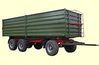 Тракторный самосвальный прицеп ТСП-24т трехсторонний, грузоподъемность 18т, объем 26м3
