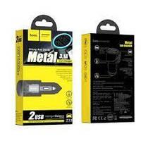 Автомобільний зарядний пристрій Hoco Z33 2 USB 3.1 A sword multi-function темно-сіре