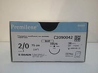 Премилен Premilene, 2/0 - 26мм/TAPER - 75см  5/0 - 19мм/CUTTING MICROTIP - 45см  B.Braun - AESCULAP