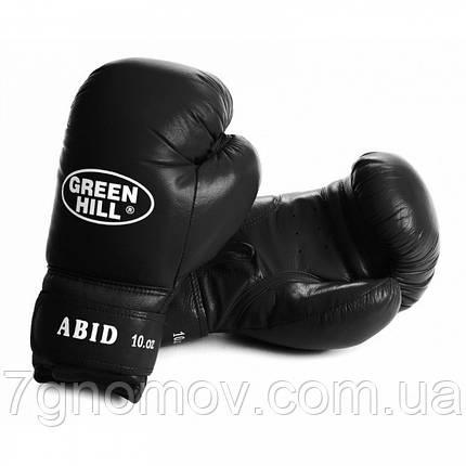"""Боксерские перчатки тренировочные """"ABID"""" Green Hill 12 oz кожа, фото 2"""