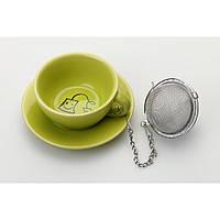 Подставка под чайные пакетики с металлическим фильтром (зеленый)