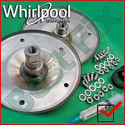 Запчасти для стиральной машины Whirlpool AWE Опора барабана Фланцы Суппорт барабана СМА нержавейка