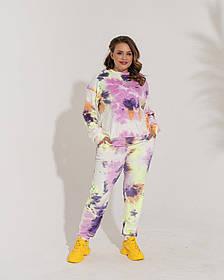 Жіночий велюровий спортивний костюм, 54-56