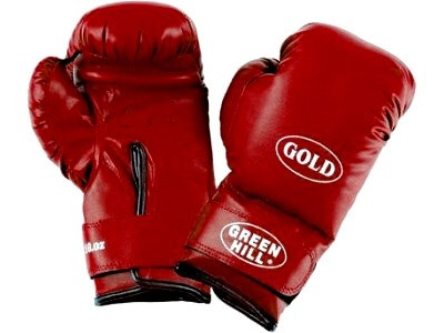 """Перчатки боксерские тренировочные """"GOLD"""" Green Hill 12 oz"""
