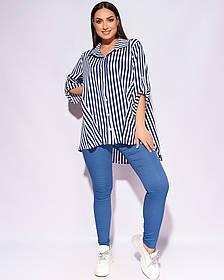 Жіноча вільна сорочка великого розміру, 50-56