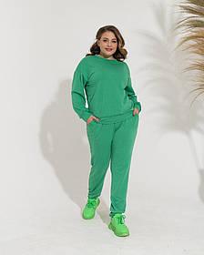 Жіночий спортивний костюм зелений, 54-56