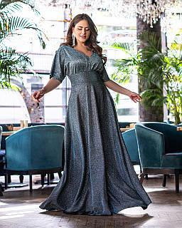 Плаття в підлогу срібло