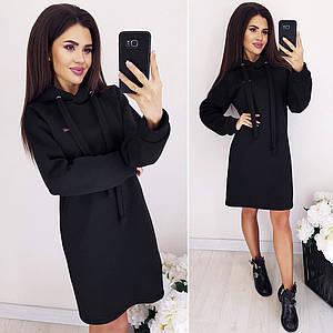 Теплое платье MF232 Черное S