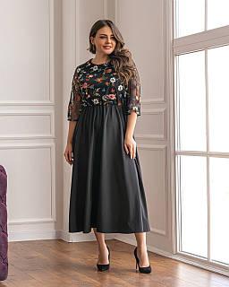 Сукня з вишивкою чорне