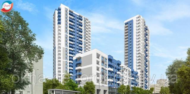 остекление однокомнатной квартиры, пластиковые окна для квартиры, окна пластиковые киев,