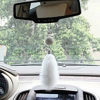 подвеска в машину декор украшение для девушек Хвост из норки со стразами от сваровских