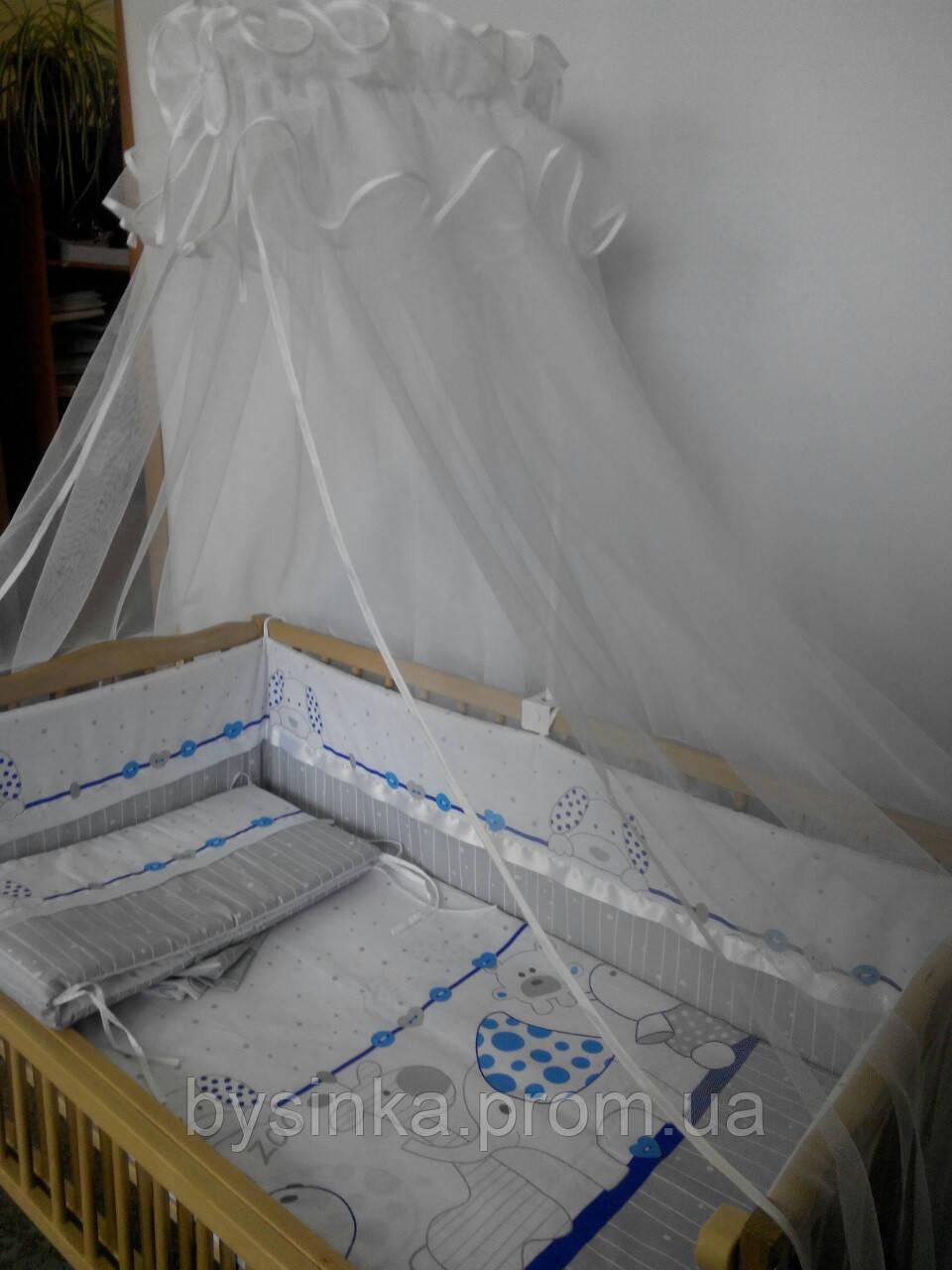 Комплект в кроватку  новорожденного из 3-ед
