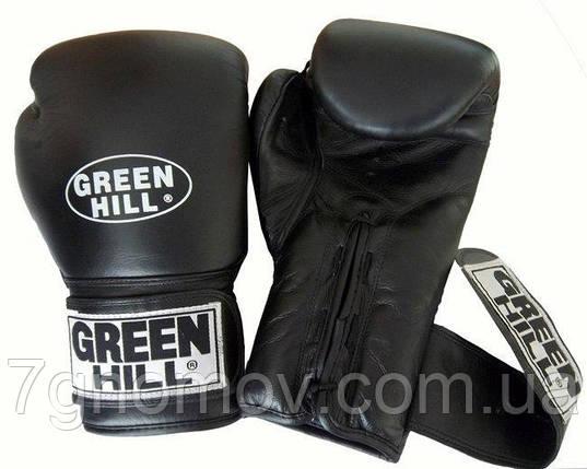 "Перчатки боксерские ""PRINCE"" Green Hill кожа 12 oz, фото 2"