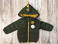 Куртка зелена хлопчик 74 р