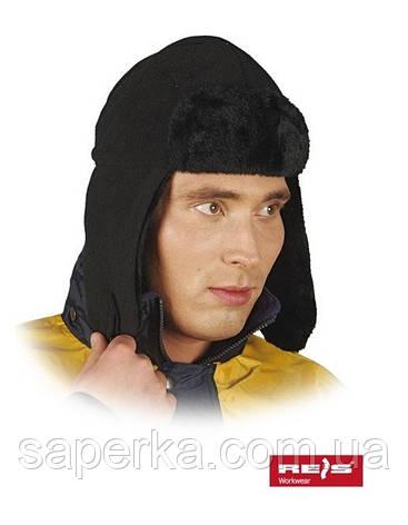 Шапка-ушанка мужская утепленная флисом и мехом., фото 2