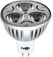 Светодиодная лампа LB-112, 3LED*1W 6400К, 230V MR-16/G5,3