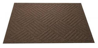 Коврик грязезащитный на резиновой основе, 40х60х0,5 см, коричневый