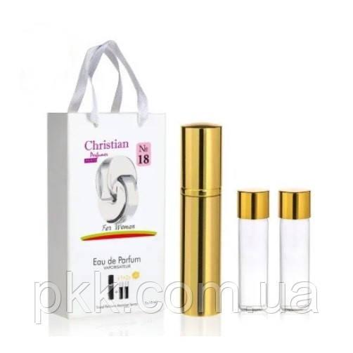 Парфумированные парфуми Christian жіночі з феромонами автомайзер з двома запасними флаконами по 15 мл