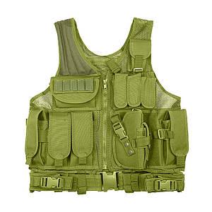 Жилет тактический AOKALI Outdoor A60 Green армейский разгрузочный
