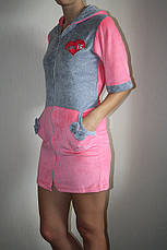 Молодежный велюровый халатик, фото 3