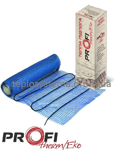 Теплый пол - Мат нагревательный PROFI THERM Eko mat 120 Вт 0,75 м2, (Украина)