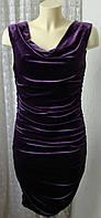 Платье женское элегантное вечернее бархатное стрейч бренд H&M р.44-46 5262