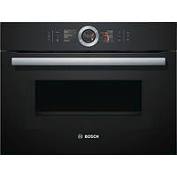 Компактный духовой шкаф с микроволновым режимом Bosch CMG6764B1, черный, фото 1
