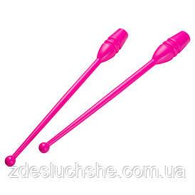 Булава гимнастическая World Sport розовая в чехле, L=37см пара SKL83-280925