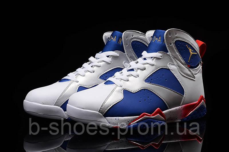 Мужские Баскетбольные кроссовки Air Jordan Retro 7 (White/Blue/Red)