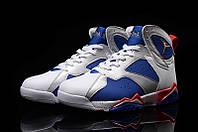 Мужские Баскетбольные кроссовки Air Jordan Retro 7 (White/Blue/Red), фото 1