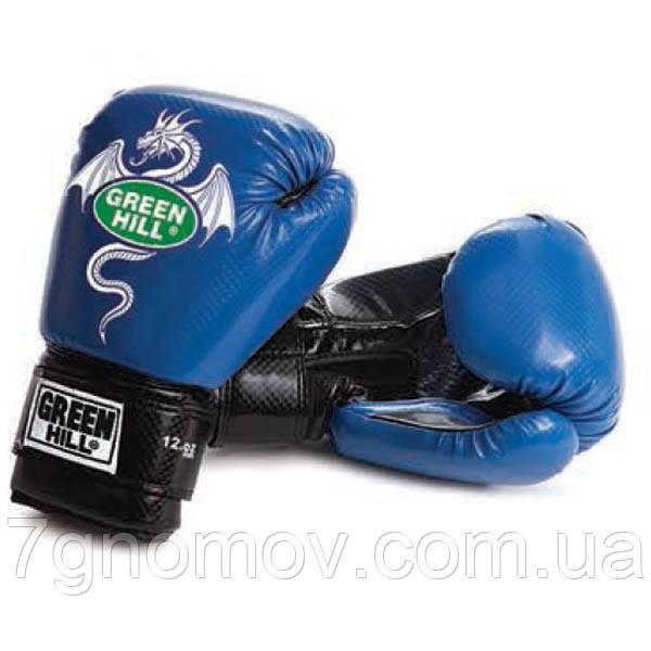 """Перчатки боксерські для спарингів """"DRAGON"""" Green Hill 10 oz"""