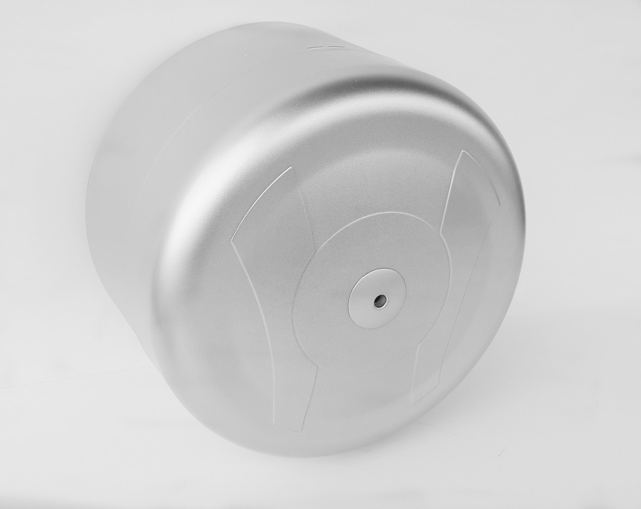 Диспенсер для туалетной бумаги с фронтальной полистовой выдачей АБС пластик, 9330 серый металлик