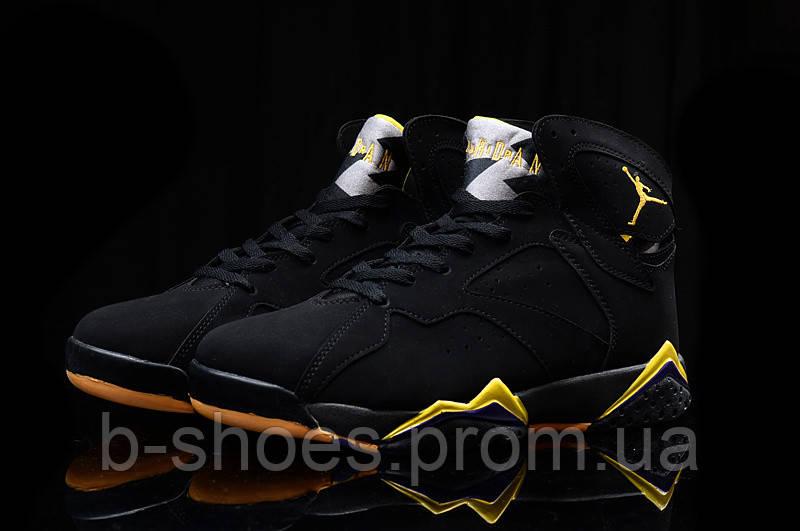 Мужские Баскетбольные кроссовки Air Jordan Retro 7 (Black/Yellow)