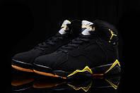 Мужские Баскетбольные кроссовки Air Jordan Retro 7 (Black/Yellow), фото 1