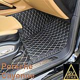 Кожаные Коврики Porsche Cayenne из Экокожи 3D (2002-2010) Коврики Порше Кайен, фото 5