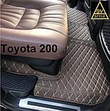 3D Килимки Toyota Land Cruiser 100 (1998-2008) з Екошкіри, фото 6
