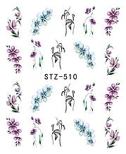Водний слайдер написи для дизайну нігтів STZ-510