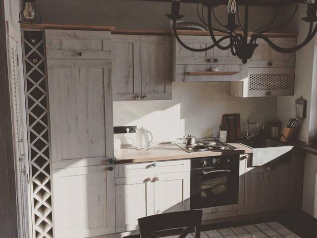 Кухня в стиле Прованс из итальянского ДСП  16