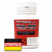 Ginkgo Biloba 60 tabs (Activevites) Для улучшения памяти и концентрации внимания